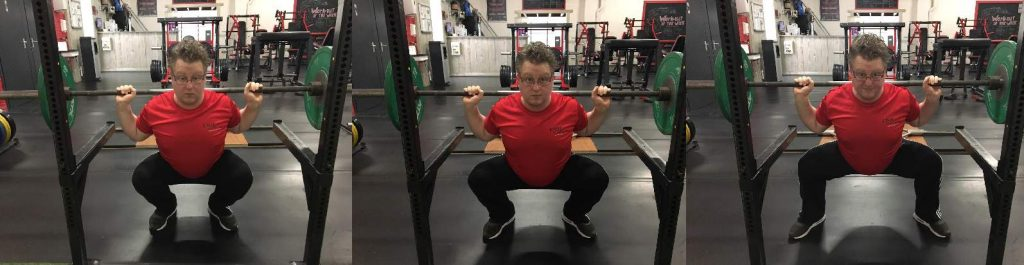 small medium close stance squat